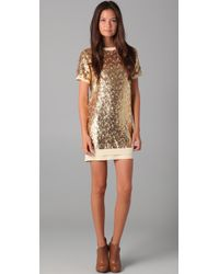 Pencey | Metallic Sequined Shift Dress | Lyst
