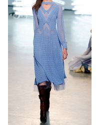 Rodarte - Blue Double-collared Cotton-lace Dress - Lyst