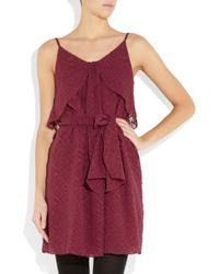 Vanessa Bruno Athé Embroidered Silk and Cotton-blend Dress