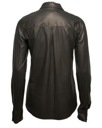 Alexander Wang Black Leather Shirt