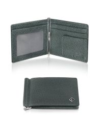 A.Testoni | Black Forest Printed Caviar Billfold with Money Clip | Lyst
