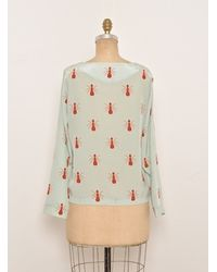 Charlotte Taylor | Blue Silk Ant Blouse Back In Stock By | Lyst