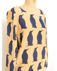 Charlotte Taylor - Blue Blouse With Winter Penguins By - Lyst