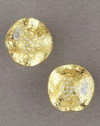 Coomi - Metallic Serenity Stud Earrings, Small - Lyst