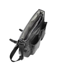 Fossil Black Dayton - Leather Messenger Bag for men