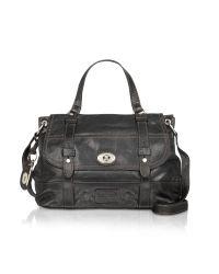 Fossil Black Heirloom - Leather Messenger Bag