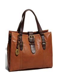 Fossil | Brown Vintage - Emory Tote | Lyst