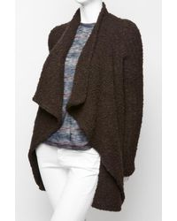 Givenchy Brown Bouclette Waterfall Cardigan