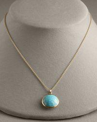 Ippolita - Blue Turquoise Lollipop-pendant Necklace - Lyst