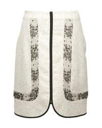 Jason Wu | White Peyton Lace-inset Cutaway Skirt | Lyst