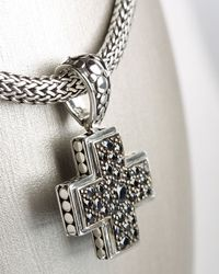 John Hardy | Metallic Black Sapphire Cross for Men | Lyst