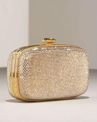 Judith Leiber | Metallic Rounded Minaudiere | Lyst