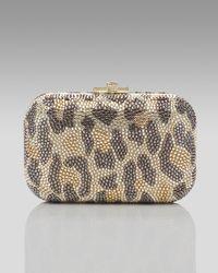 Judith Leiber - Multicolor Leopard-print Fine Crystal-embellished Clutch - Lyst
