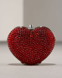 Judith Leiber | Red Heart Pillbox | Lyst