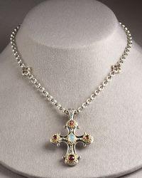Konstantino Metallic Cross Pendant