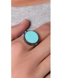 Marc By Marc Jacobs | Blue Classic Marc Enamel Discs Spin Ring | Lyst