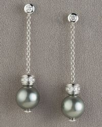Mikimoto - Metallic Pearls-in-motion Earrings, Black - Lyst