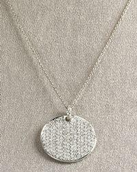 Roberto Coin | Metallic Circle Necklace | Lyst