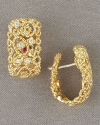 Roberto Coin - Metallic Mauresque Diamond-detail Earrings - Lyst