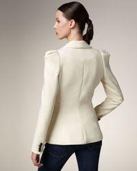 Smythe | Natural Puff-shoulder Blazer | Lyst