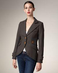 Smythe | Green Leather-patch Hunting Jacket | Lyst