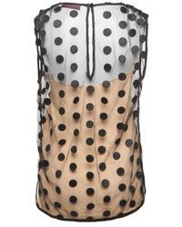 Stella McCartney | Natural Polka Dot Sleeveless Top | Lyst