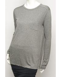 T By Alexander Wang Gray Classic Long Sleeve T-shirt