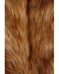 TOPSHOP - Brown Faux Fur Tails Coat By Unique** - Lyst