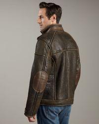 UGG - Brown Refugio Shearling Jacket for Men - Lyst