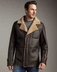 UGG Brown Blackfoot Shearling Coat for men