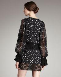 Dolce & Gabbana Black Chiffon & Lace Star-print Dress