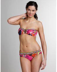 Trina Turk - Multicolor French Riviera Bandeau Bikini Top - Lyst