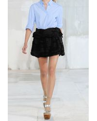 Acne Studios - Black Muse Textured Stretch-cotton Skirt - Lyst