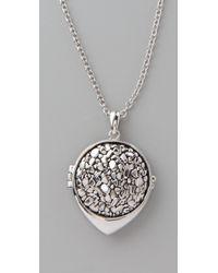 Belle Noel Metallic Nugget Belle Locket Necklace