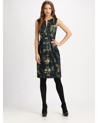 Elie Tahari | Black Silk Charmeuse Dorris Dress | Lyst