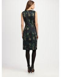 Elie Tahari | Black Silk Charmeuse Dorris Dress | Lyst