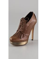 House of Harlow 1960 | Brown Nelly Kilty Platform Booties | Lyst