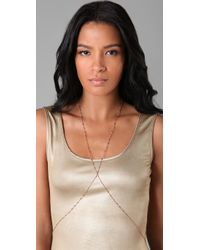 Jacquie Aiche - Pink Vintage Body Chain - Lyst