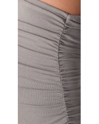 James Perse Natural Ruched Pencil Skirt