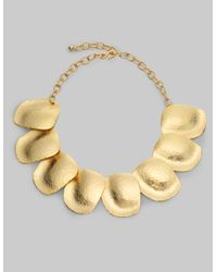Kenneth Jay Lane | Metallic Hammered Disc Necklace/gold | Lyst