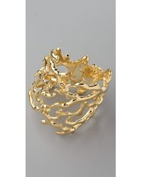 Kenneth Jay Lane - Metallic Sculpted Branch Cuff - Lyst