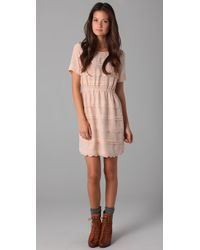 Madewell | Pink Elmira Scalloped Dress | Lyst