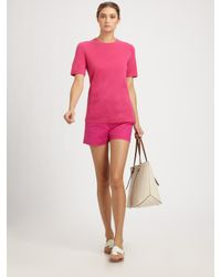 Michael Kors | Pink Featherweight Cashmere Tee | Lyst
