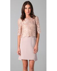 Philosophy di Alberta Ferretti | Pink Lace Crop Top | Lyst