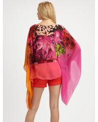 Roberto Cavalli | Pink Moorea Print Silk Caftan | Lyst
