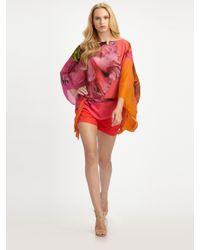 Roberto Cavalli | Multicolor Moorea Print Silk Caftan | Lyst
