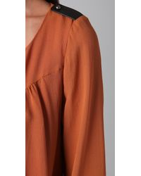 The Addison Story - Brown Bell Sleeve Top - Lyst