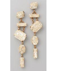 Erickson Beamon | White Smoke And Mirrors Earrings | Lyst