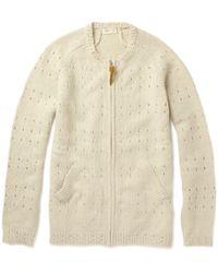 Folk | Natural Pointelle Knit Cardigan for Men | Lyst
