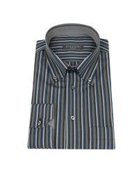 FORZIERI - Black Striped Button Down Cotton Italian Dress Shirt for Men - Lyst